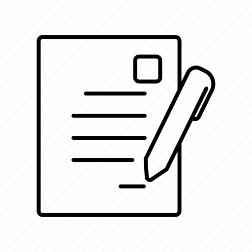 business, contract, document, finance, list, pen, signal icon