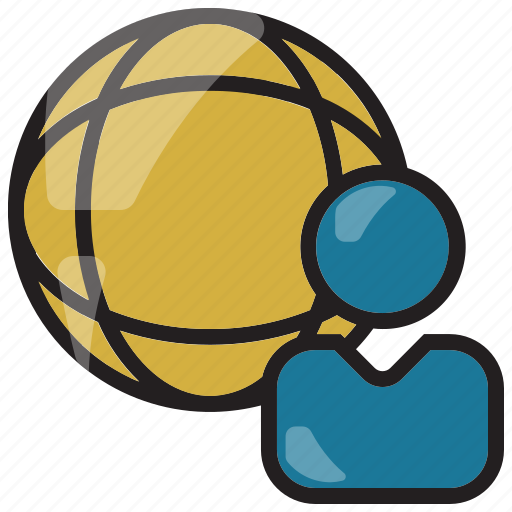 businessman, human, international, resource, world icon icon