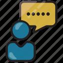 businessman, silent icon
