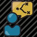 businessman, finance, marketing, plan, strategy icon