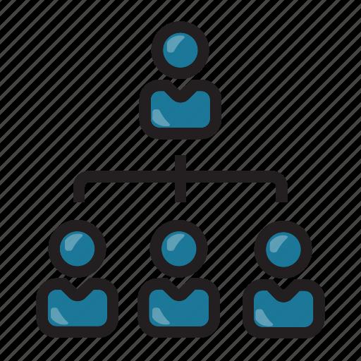 businessman, finance, hierarchy, leader icon