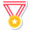badge, medal, reward, star, war, win, winner icon