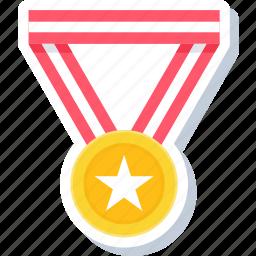badge, medal, reward, star, war, win, winner icon