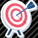 aim, darboard, business, target, goal, success, bullseye icon