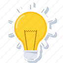 bulb, electric, energy, idea, lamp, light, lightbulb icon