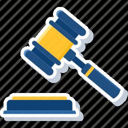 court, crime, decision, judge, justice, law, legal icon