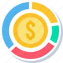 bank, currency, dollar, finance, money icon