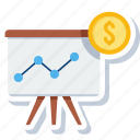 board, chart, dartboard, graph, growth, presentation, statistics icon
