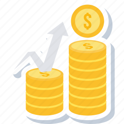 cash, coins, currency, finance, financial, growth, money icon
