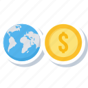 bank, currency, dollar, international, money, web, world icon