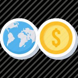 bank, currency, dollar, international, money, web, world icon