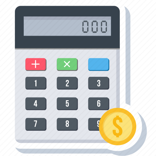 accounting, calculate, calculating, calculation, calculator, math, mathematics icon