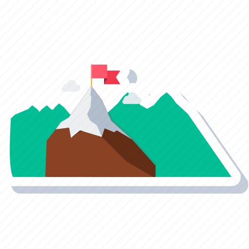 everest, flag, hill, landscape, mountain, mountains, nature icon