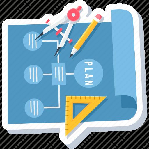 business, design, flow, idea, office, plan, work icon