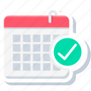 appointment, booked, calendar, day, event, meeting, time icon
