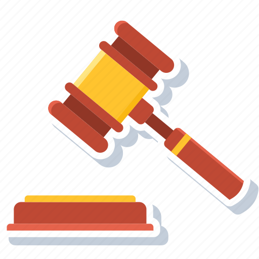 auction, court, crime, hammer, judge, law, legal icon