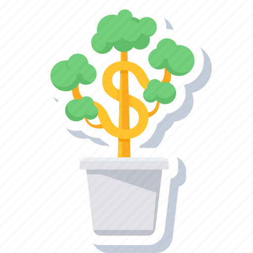 bank, banking, business launch, foundation, grow, money, plant icon