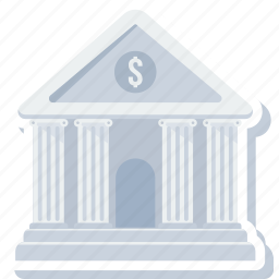 bank, building, financial, institution, real estate, stock house, treasury icon