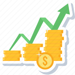 business, currency, finance, financial, growth, high, increase icon