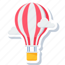 adventure, balloon, cloud, hot, hot air balloon icon
