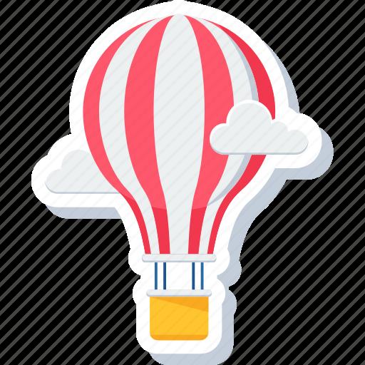 adventure, balloon, cloud, hot, hot air balloon icon