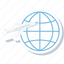 aeroplane, business, flight, international, tour, tourism, world tour icon