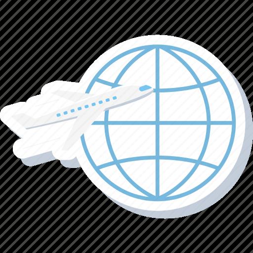 aeroplane, business, flight, international, tour, tourism, world tour icon