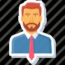 employee, manager, account, avatar, boss, human, user