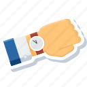 watch, wrist, history, schedule, time, timer, wait icon