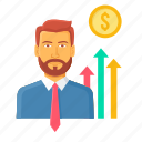 analysis, appraisal, business, chart, employee, growth, report icon