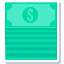 currency, dollar, money, note, notes, paper icon
