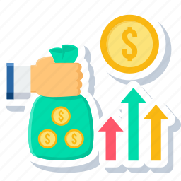 bag, bank, cash, currency, finance, funds, money icon