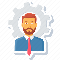 boss, manage, manager, person, setting, settings, user icon