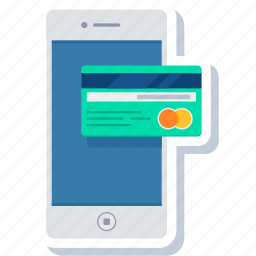 card, credit, easy, mobile, payment, phone, smartphone icon