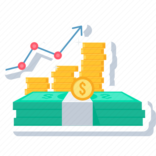 business, cash, currency, finance, graph, money, office icon
