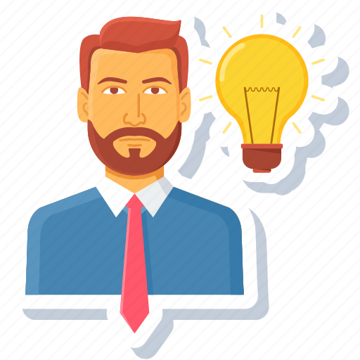 customer, employee, idea, manager, resolution, thought, user icon