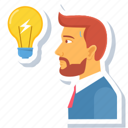 avatar, creative, employee, idea, lightbulb, manage, management icon