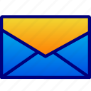 contacts, envelopes, messages, vectoryland icon