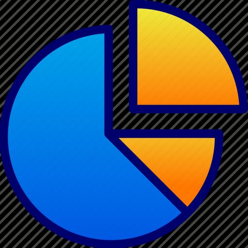 business, graphics, percentage icon