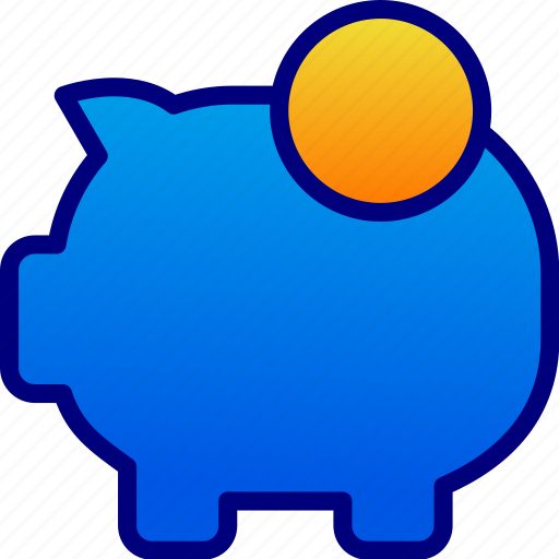 coins, money, pigs, save icon
