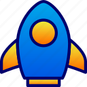 business, rocket, space, startup icon