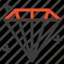 diamond, jewel, user icon