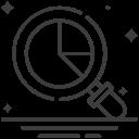 chart, graph, search, statistics icon