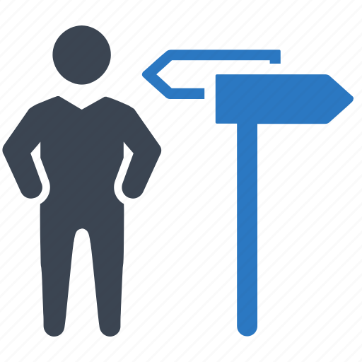 business decision, businessman, choice icon