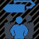 decision, direction, teamwork icon