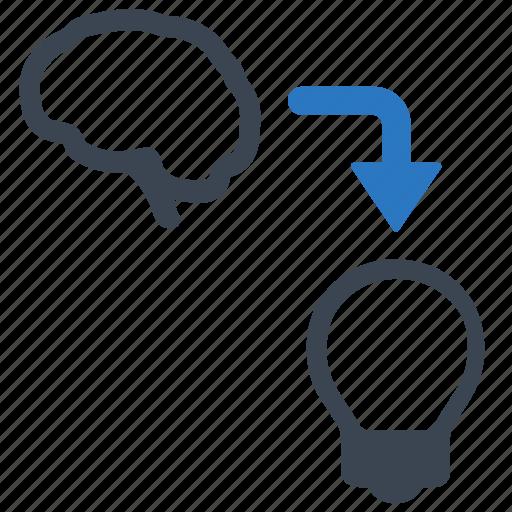 brainstorming, idea development, idea making icon