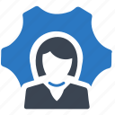 business solution, gear, service icon