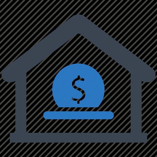 bank deposit, fund received icon
