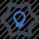 creative solution, idea development icon
