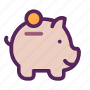 business, finance, management, office, save icon